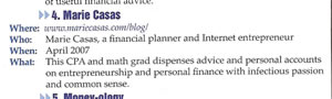 Money Sense January-February 2008 (MarieCasas.com) Personal Finance Blogs