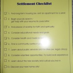 settlement checklist