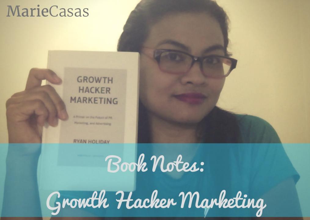 book notes photo growth hacker marketing