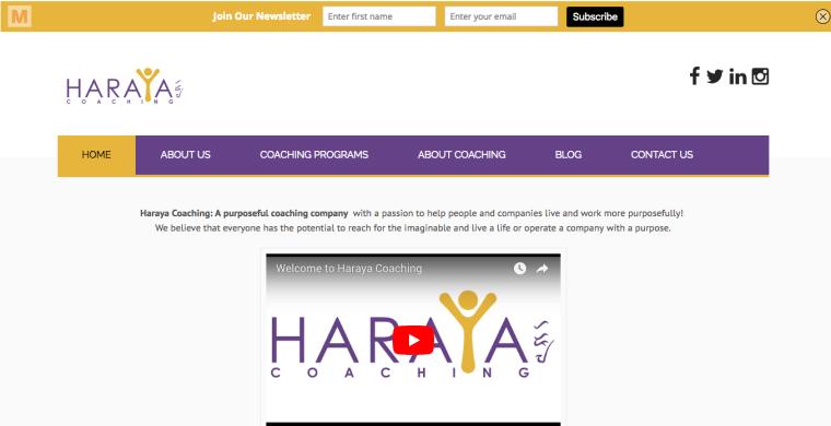 WordPress Project for harayacoaching