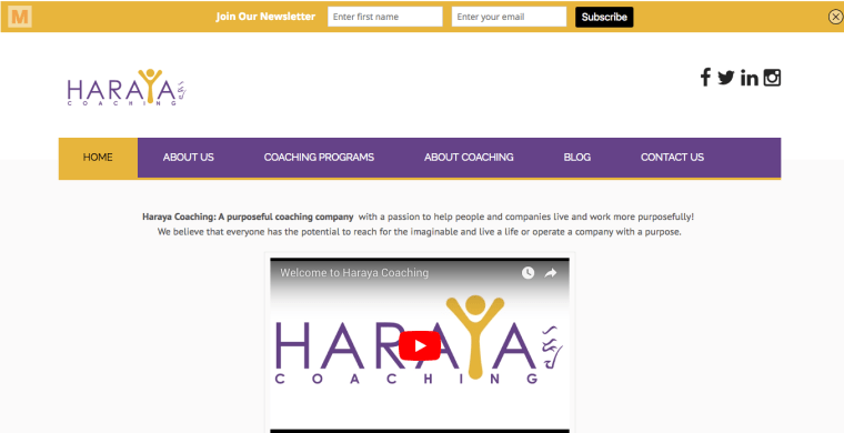 WordPress Project for harayacoaching