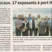 Artistes locaux. 17 exposants à Port Haliguen – Le Télégramme – le 06 06 2018