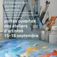 Journées du patrimoine : Portes ouvertes des ateliers d'artistes 15-16 septembre 2018