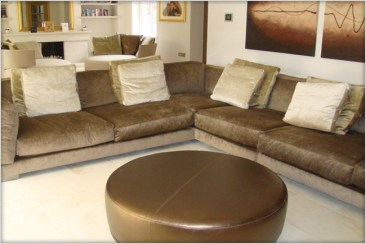 Designer Furniture : Flexform Sofa (cestone) at Marie Charnley Interiors