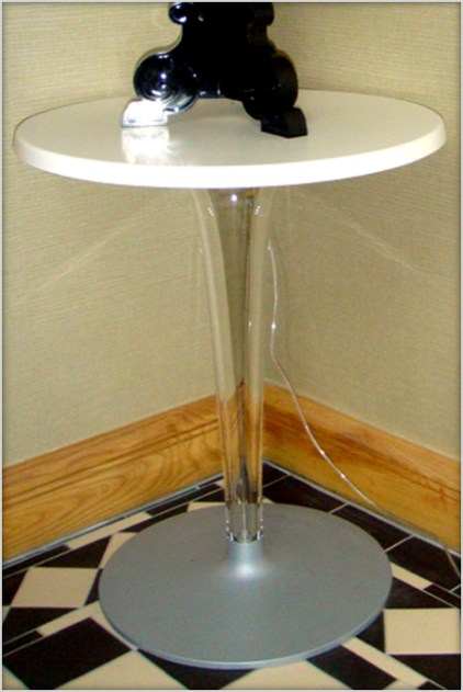Kartell Top Top table in white at Marie Charnley Interiors