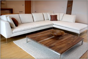Designer Furniture : B+B italia Charles large white sofa at Marie Charnley Interiorss