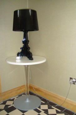 Kartell Bougie black Lamp at Marie Charnley Interiors