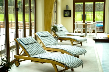 Sun loungers with Ralph Loren bespoke cushions at Marie Charnley Interiors