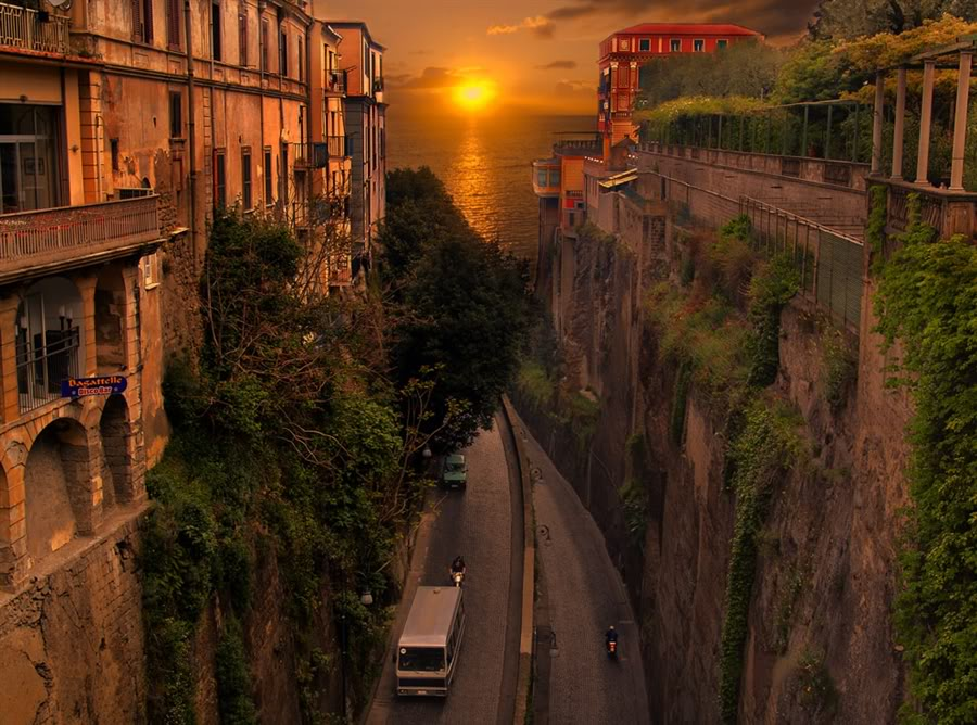 Sunset, Sorrento, Italy