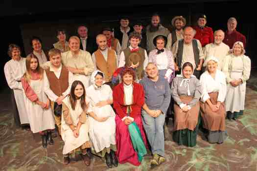 Photo of Marie Cooper Actor with the whole cast of Lark Rise at Sewell Barn Theatre, Norwich