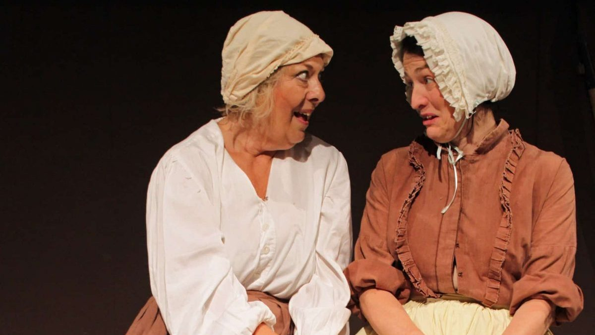 Mrs Blaby (Marie Cooper Actor) and Mrs Peverill in Larkrise