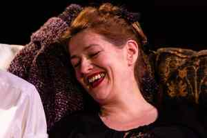 Marie Cooper is Hilda, laughing, in Someone Waiting.