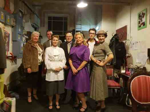 Marie Cooper Actor as Hilda, along with the cast of Someone Waiting