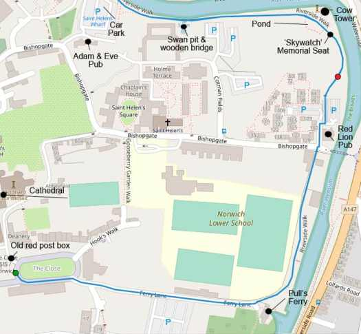 Norwich Map for Marie Cooper's Walking Play