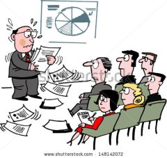 cartoon-of-business-executive-giving-speech-before-audience-148142072