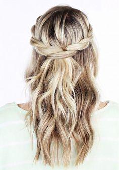 baluppsättning långt hår