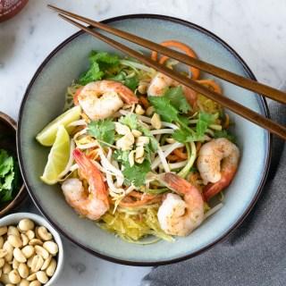 Pad thaï aux crevettes extra légumes