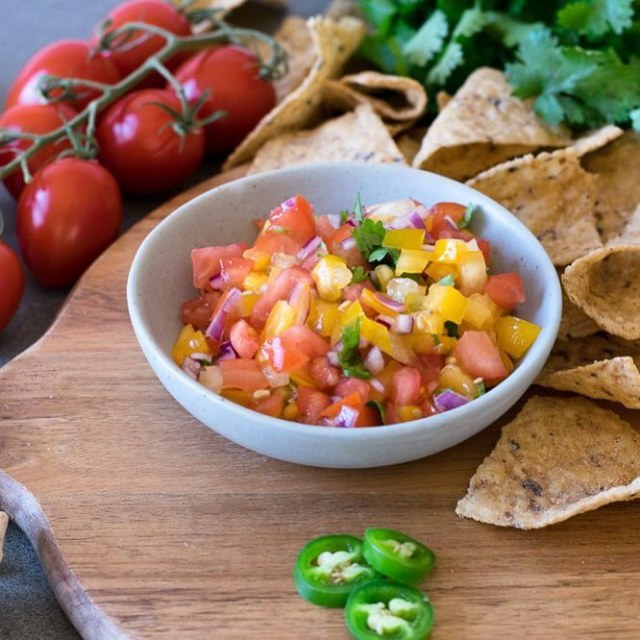 Une salsa maison colore pour combattre la grisaille  recettehellip