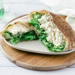Pitas à la salade de poulet