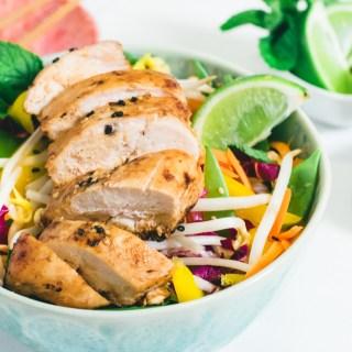 Salade asiatique au poulet à l'orange