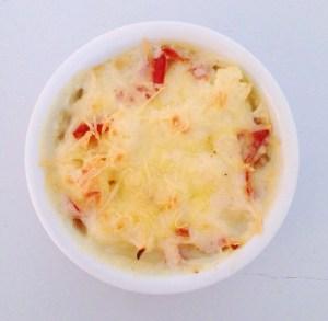 Gratin de chou-fleur & pancetta