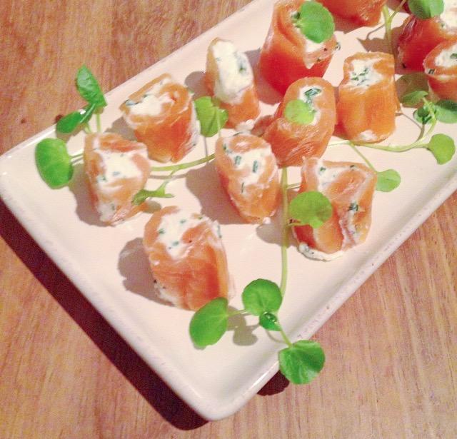 roulés de saumon