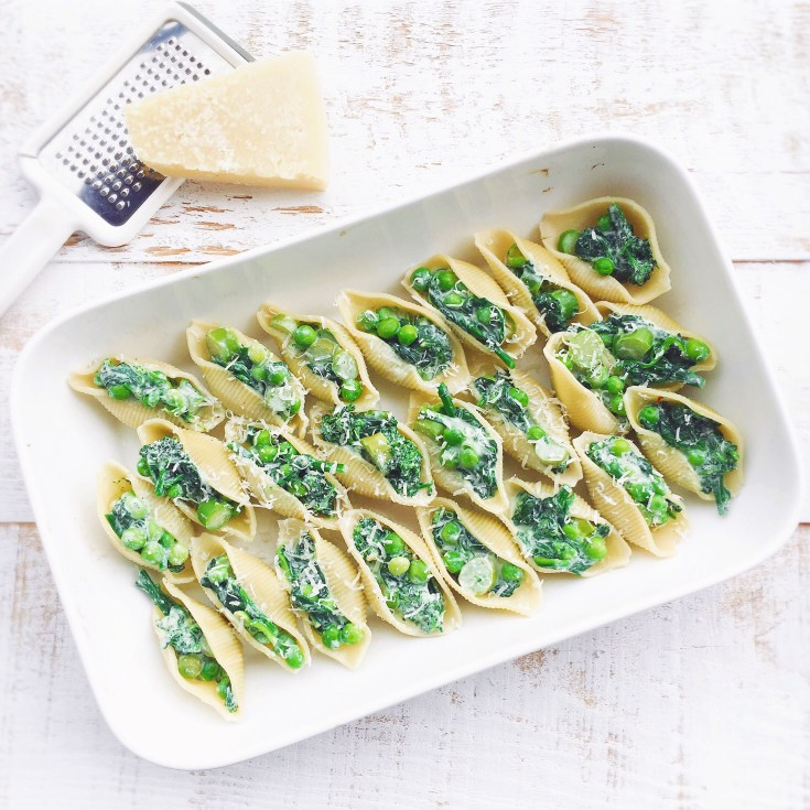 Conchiglioni aux légumes Spring pasta