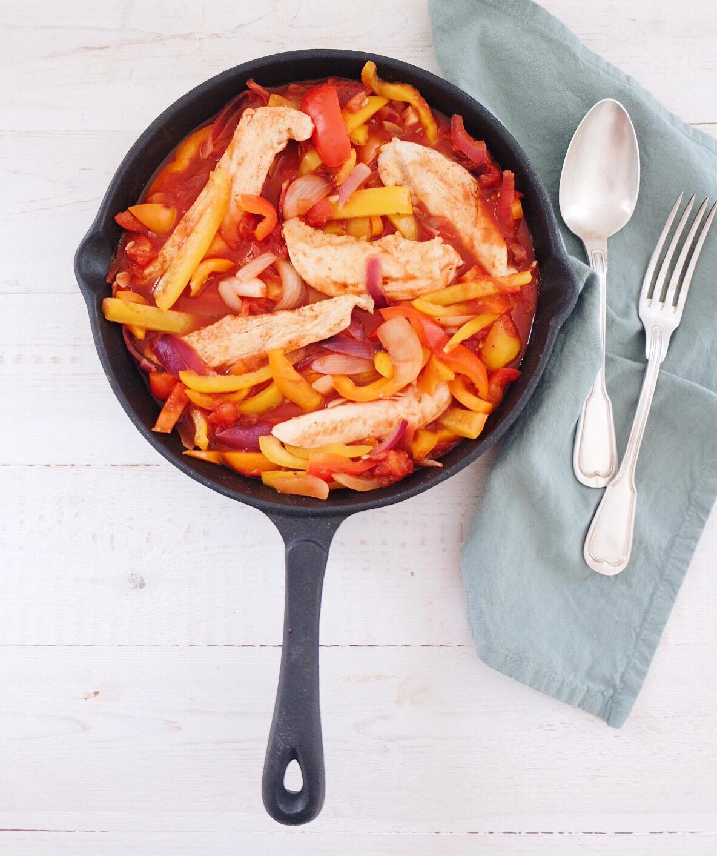 Cassolette de poulet Basquaise