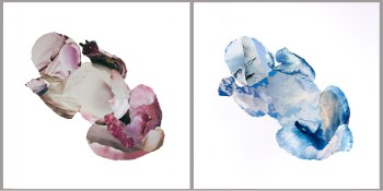 Collages roze en blauwe baby