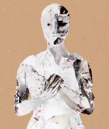 Collage staande vrouw, detail