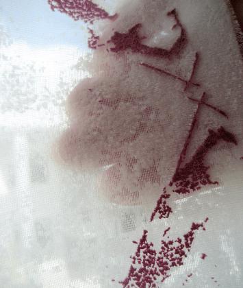 Devoré printed silk-viscose.