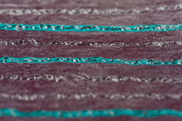Script is a thermochromicly (heat sensitive) printed nonwoven with embroidered circuits. Photo: Henrik Bengtsson (Imaginaria)