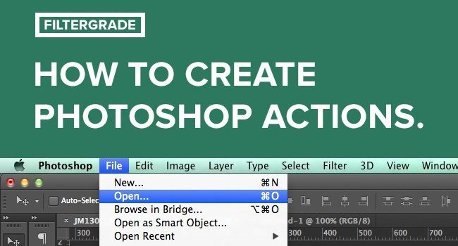 A Handy Infographic Guide to Creating Photoshop Actions