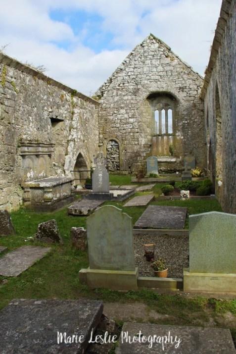 Inside the Ruins of Antigua Iglesia De Killinaboy Ireland