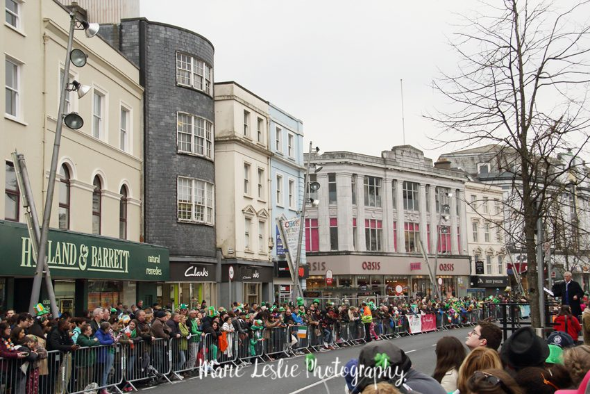 Waiting for the St Patricks Day Parade in cork