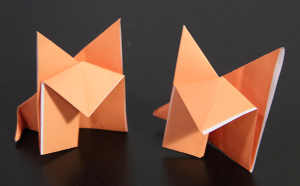 bible origami foxes