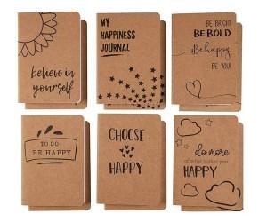 12-Pack Lined Pocket Kraft Notebooks