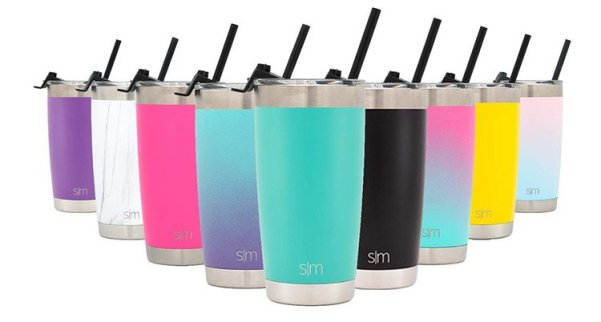 Insulated Tumbler with Straw & Closing Lid