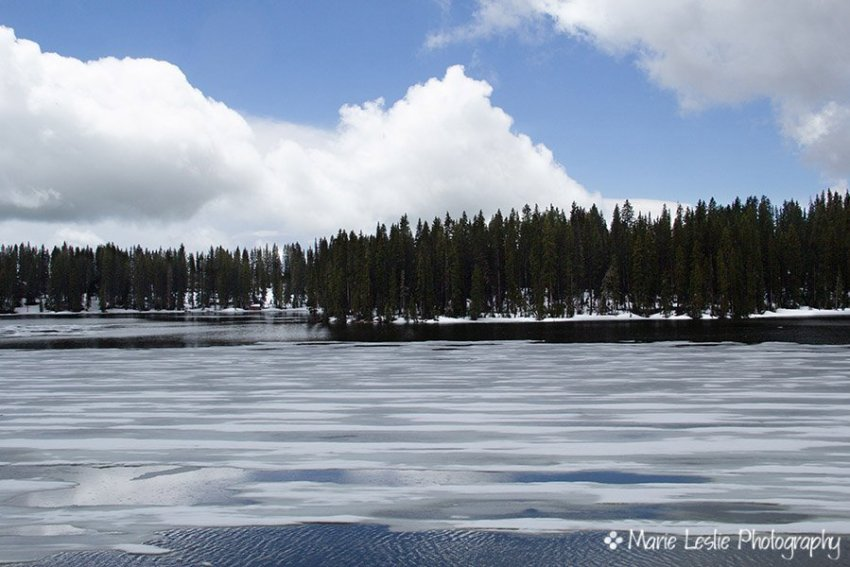 Frozen Baron Lake on Grand Mesa