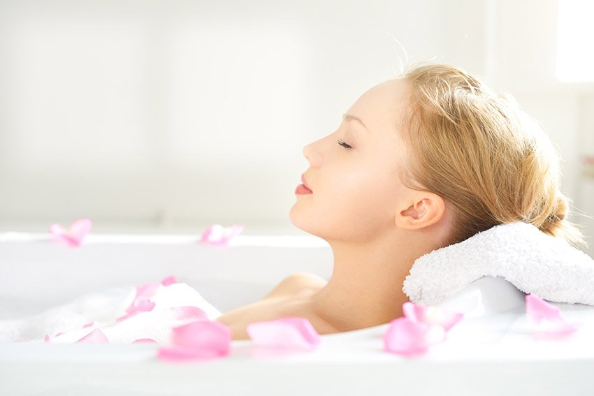Relax in the bath for better sleep