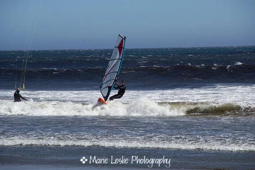 windsurfer on the california coast
