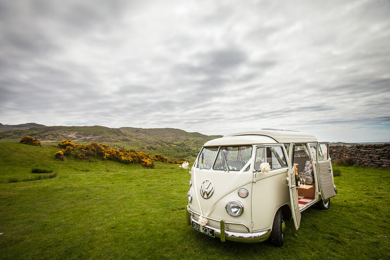 Nelly, the VW Camper van at a wedding!