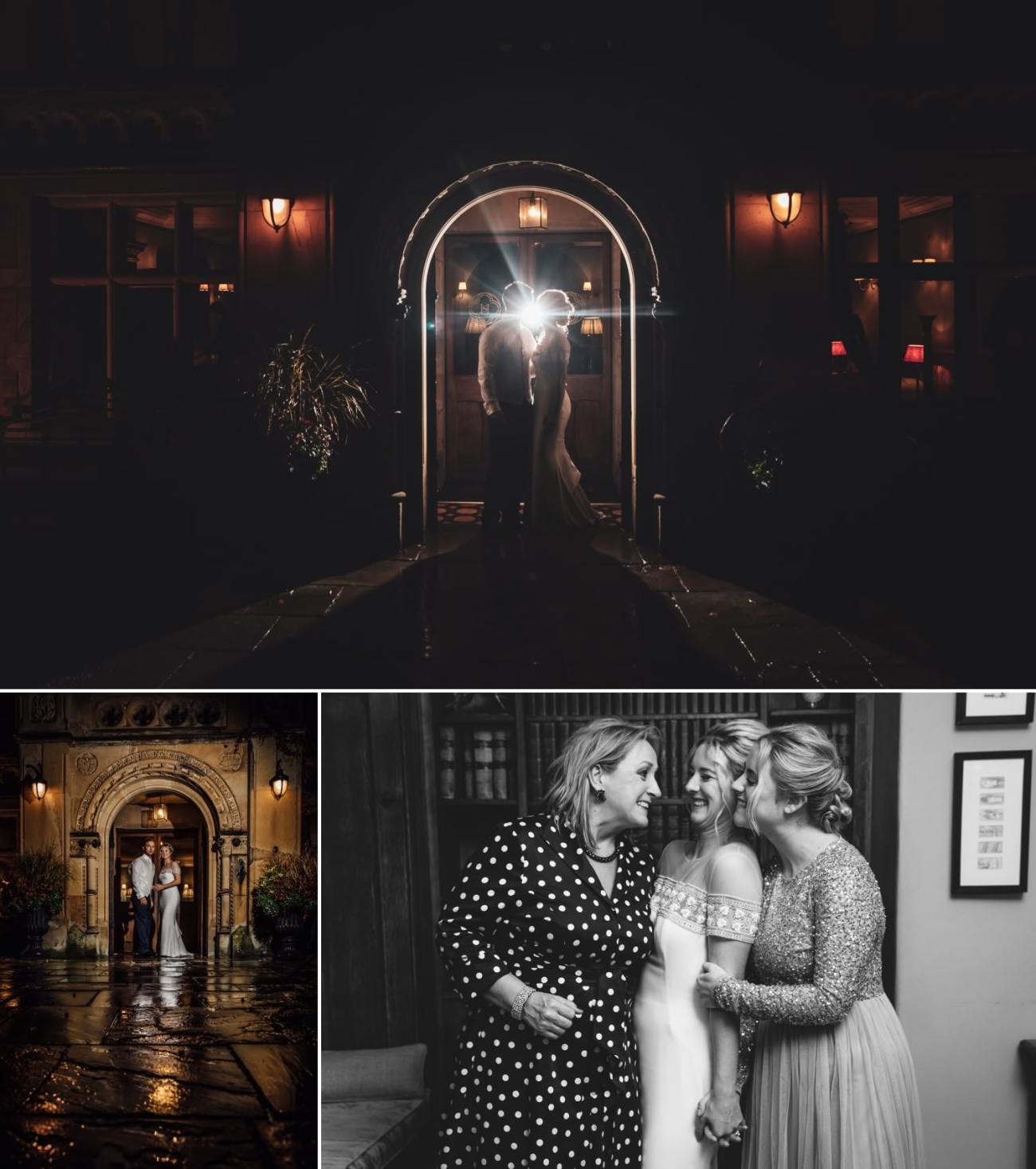 evening photography of the couple at the end of the night in soughton hall