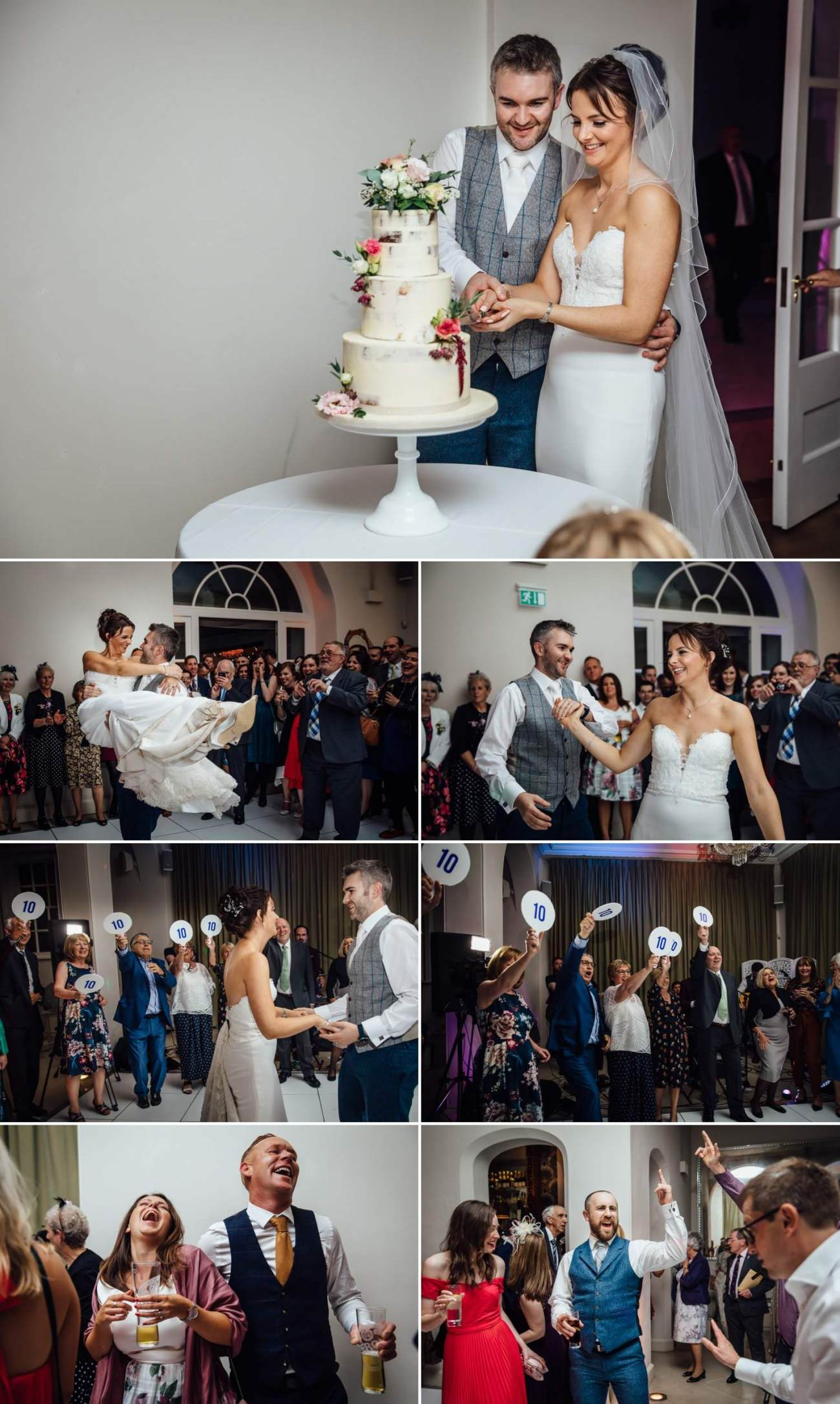 First wedding dance and cutting of the cake at Iscoyd Park