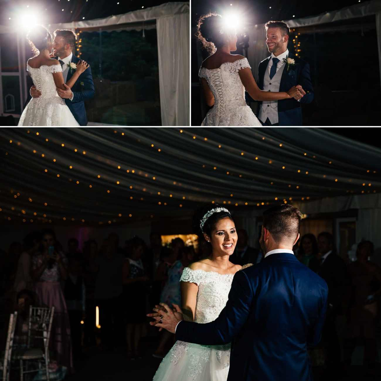 Wedding photography of first dance at Soughton Hall, Chester, Cheshire