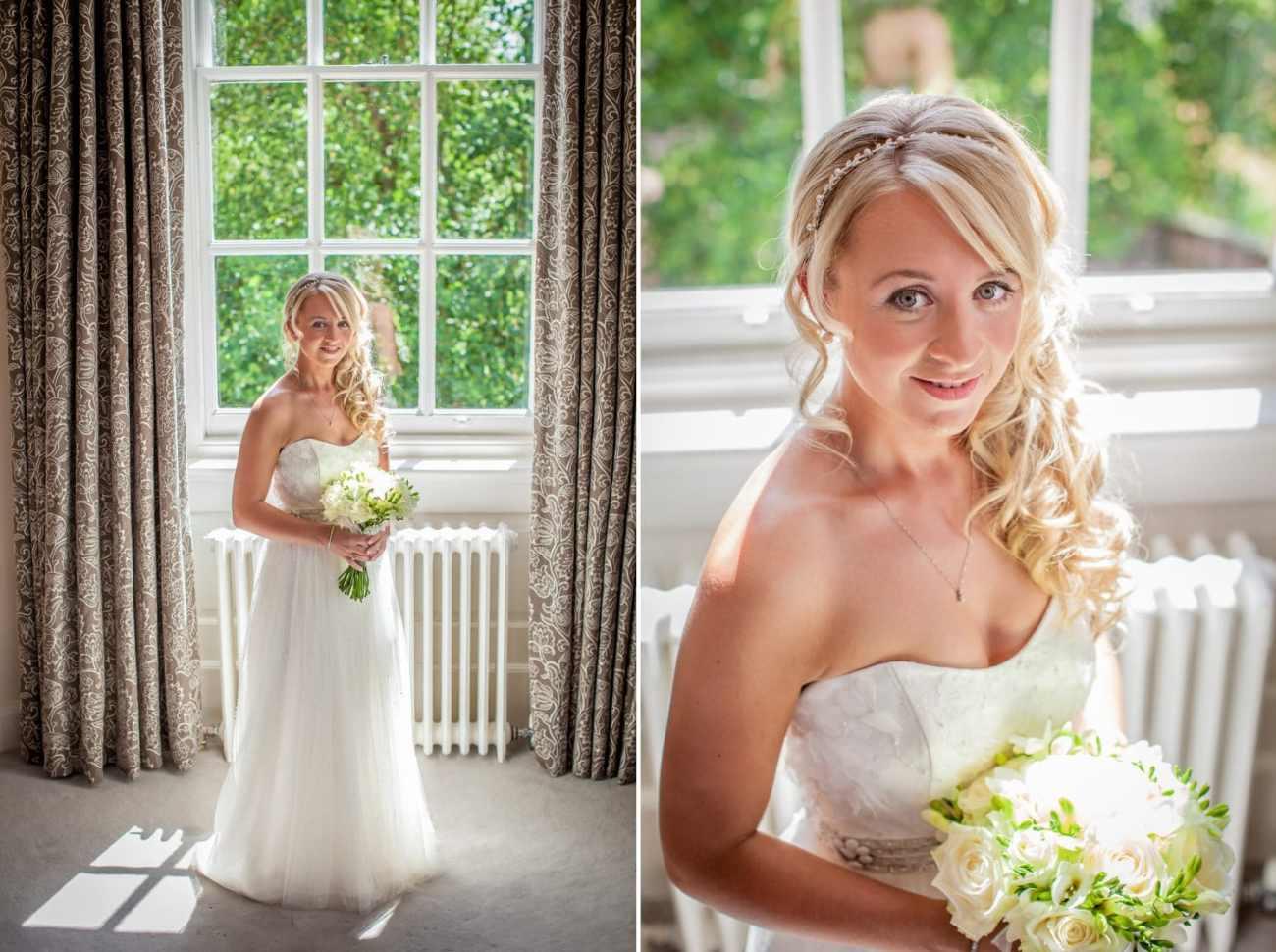 Wedding Photography portraits of bride at Iscoyd Park