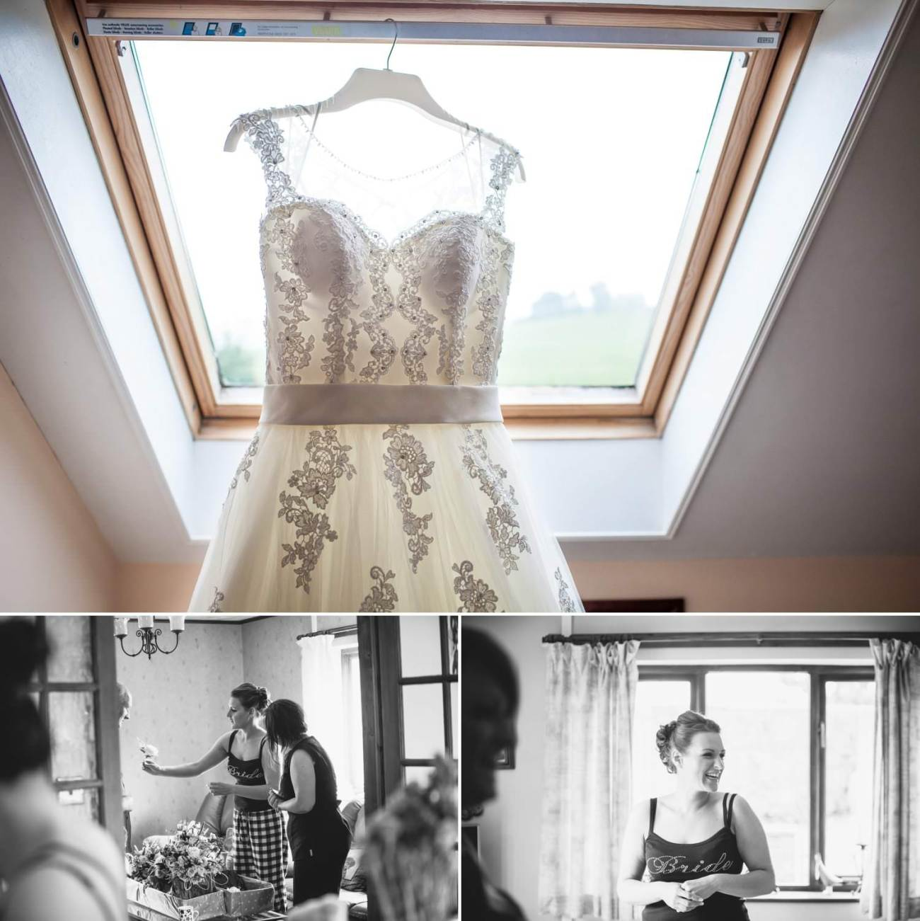 Wedding Photography Wales, wedding dress