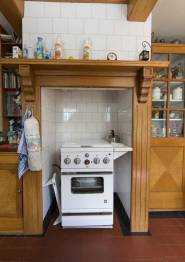 Historisch interieur; kooktoestel