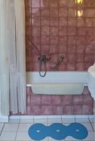 Historisch interieur; anti-slip mat in de badkamer