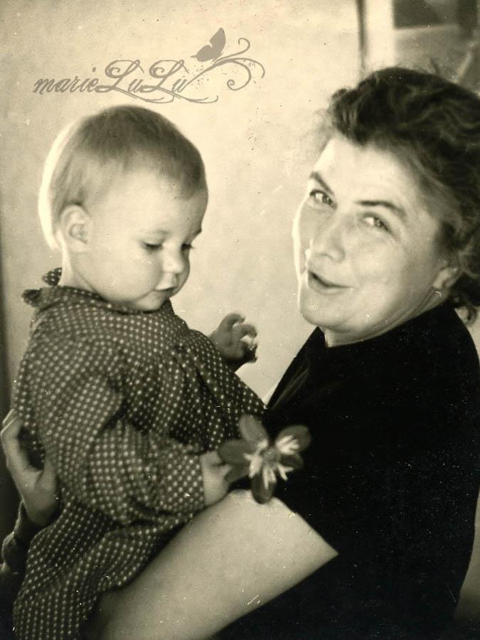 Originalfoto 1957 meine Oma und Mama